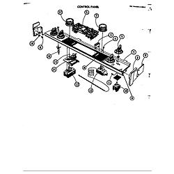 D120 Range Control panel Parts diagram