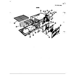 D120 Range Oven Parts diagram