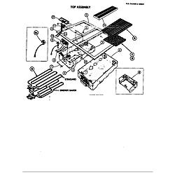D120 Range Top assembly Parts diagram