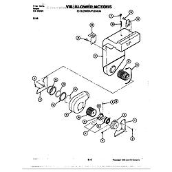 D156 Range Blower motor-blower/plenum (d156) Parts diagram