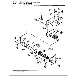 D156 Range Blower motor (blower/plenum d156b & w) (d156b) (d156w) Parts diagram