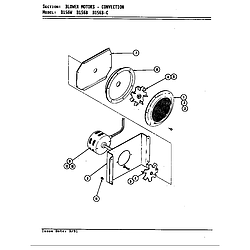 D156 Range Blower motor (convection d156b & d156w) (d156b) (d156w) Parts diagram