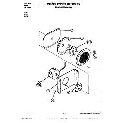 D156 Range Blower motor-convection fan (d156) Parts diagram