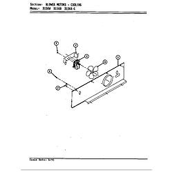 D156 Range Blower motor (cooling d156b & d156w) (d156b) (d156w) Parts diagram