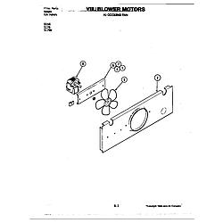 D156 Range Blower motor-cooling fan (d156) Parts diagram