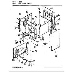 D156 Range Body (d156b & d156w) (d156b) (d156w) Parts diagram