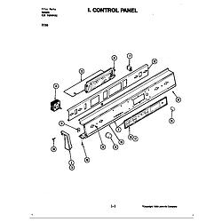 D156 Range Control panel (d156) Parts diagram