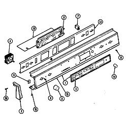 D156 Range Control panel (d156b, d156w) (d156b) (d156w) Parts diagram