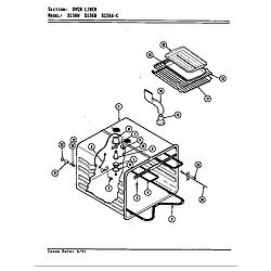D156 Range Liner (d156b & d156w) (d156b) (d156w) Parts diagram