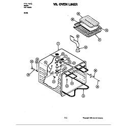 D156 Range Oven liner (d156) Parts diagram