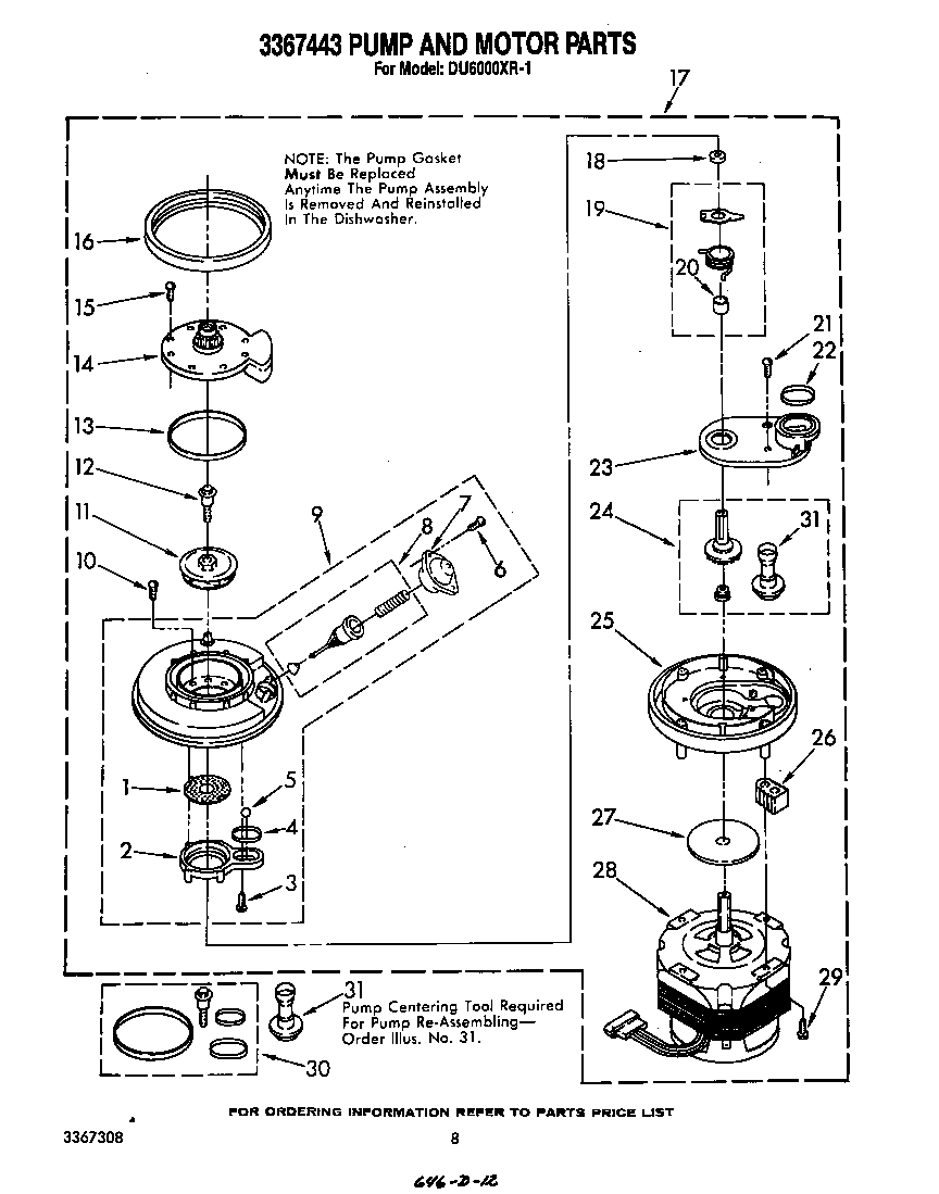 3367443 pump and motor parts whirlpool du6000xr1 timer stove clocks and appliance timers whirlpool thin twin wiring diagram at soozxer.org