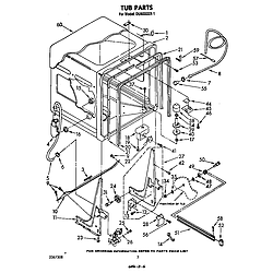 DU6000XR1 Dishwasher Tub Parts diagram