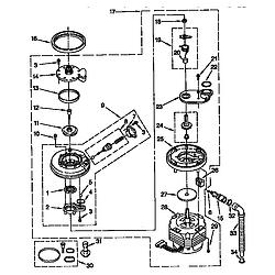 DU8950XY2 Dishwasher Pump and motor Parts diagram