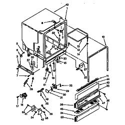 DU8950XY2 Dishwasher Tub assembly Parts diagram