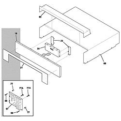E30EW75DSS1 Wall Oven Control panel Parts diagram