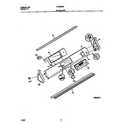 FCS388WECA Dual Fuel Range Backguard Parts diagram