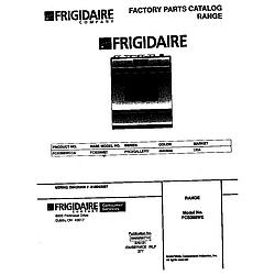 FCS388WECA Dual Fuel Range Cover Parts diagram