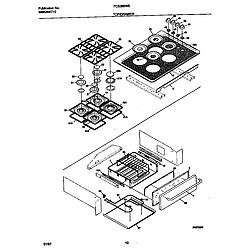 FCS388WECA Dual Fuel Range Top/drawer Parts diagram