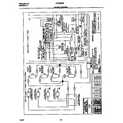 FCS388WECA Dual Fuel Range Wiring diagram Parts diagram