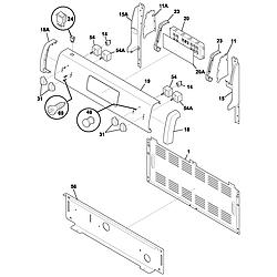 FEF352ASF Electric Range Backguard Parts diagram