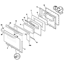 FEF352ASF Electric Range Door Parts diagram