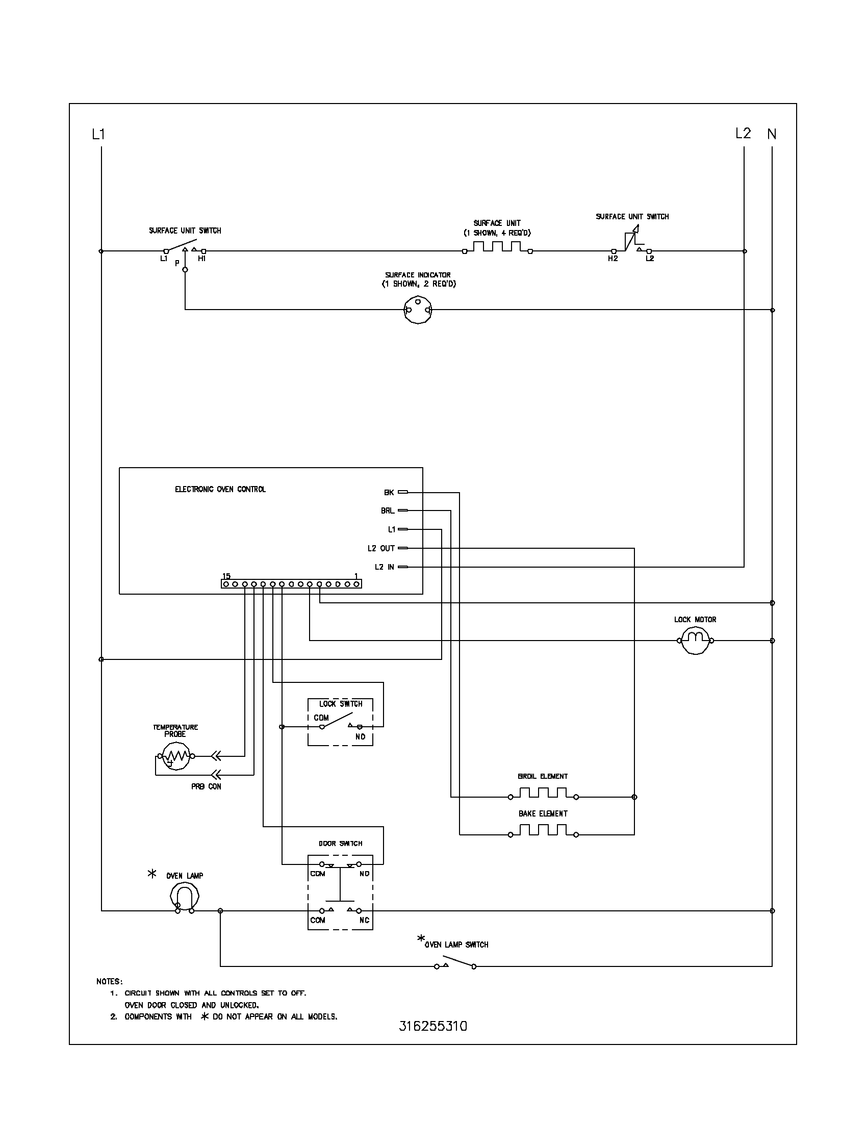 Kelvinator Washing Machine Wiring Diagram Not Lossing Ge Motor Frigidaire Fef352asf Electric Range Timer Stove Clocks And Rh Appliancetimers Com Schematic Circuit