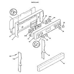 FEF352BADA Electric Range Backguard Parts diagram
