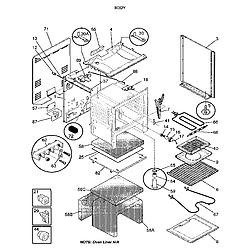FEF352BADA Electric Range Body Parts diagram
