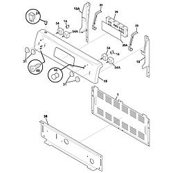 FEF366CCB Electric Range Backguard Parts diagram