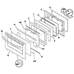 FEF366CCB Electric Range Door Parts diagram