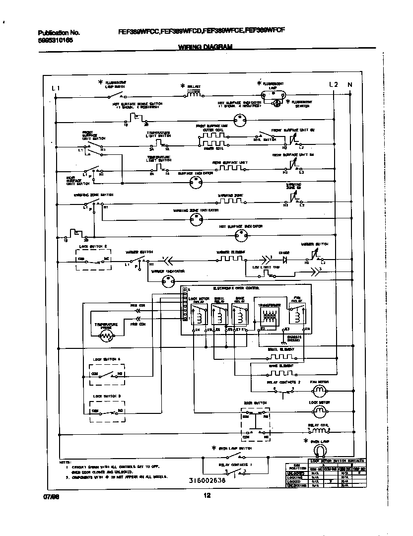 Wiring Diagram For Frigidaire Range All Kind Of Diagrams Stove Fef389wfcd Electric Timer Clocks And Appliance Timers