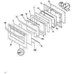 FEFL88ACC Electric Range Door Parts diagram