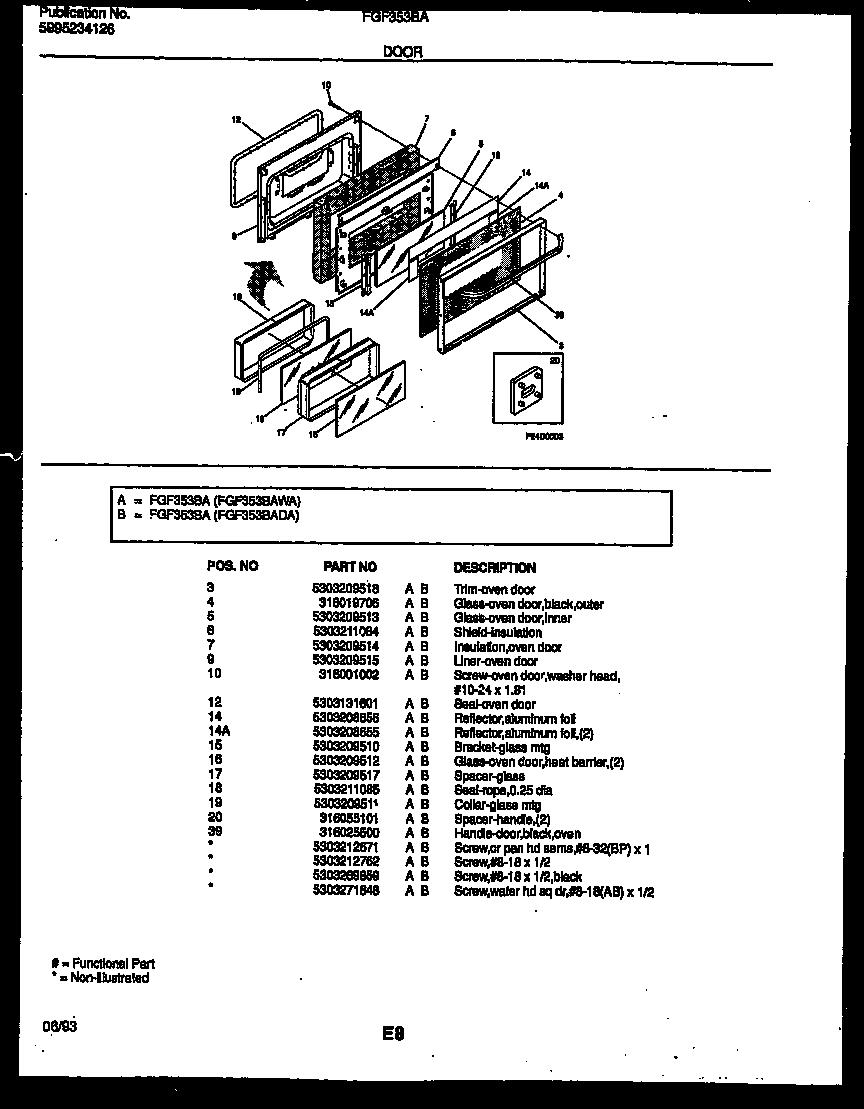 frigidaire fgf353bada range - gas timer