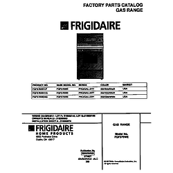 FGF379WECF Gas Range Cover Parts diagram