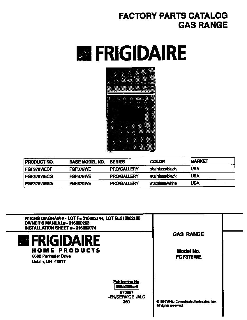 Frigidaire Range Wiring Diagram