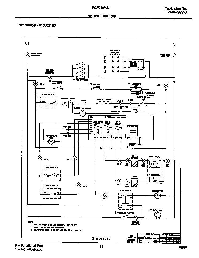 Frigidaire Oven Wire Diagram Simple Wiring Roper Fgf379wecf Gas Range Timer Stove Clocks And Appliance For Fridge