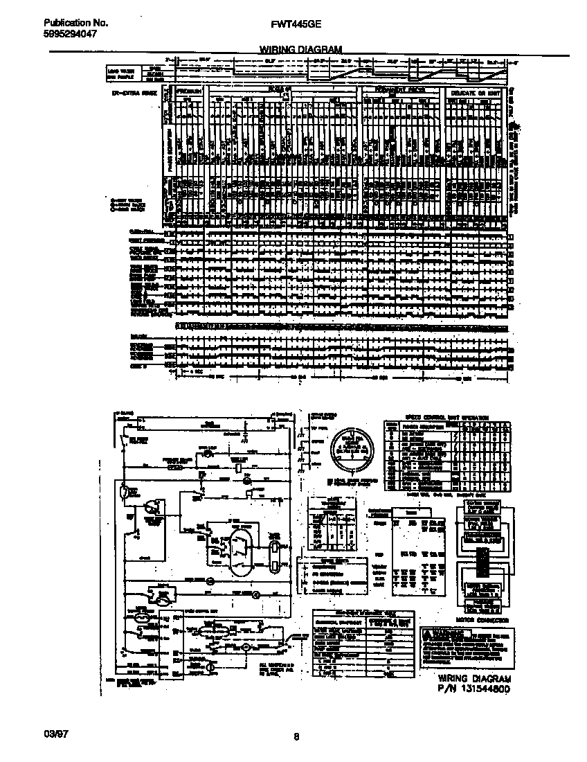 FWT445GES1 Washer Parts diagram