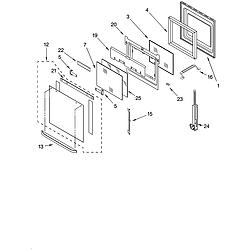 GBD277PDB10 Built In Double Oven - Electric Oven door Parts diagram