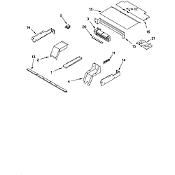 GBD277PDB10 Built In Double Oven - Electric Top venting Parts diagram