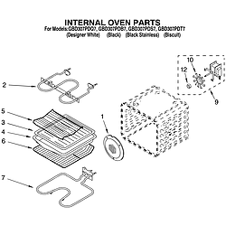 GBD307PDT7 Built-In Electric Oven Internal oven Parts diagram