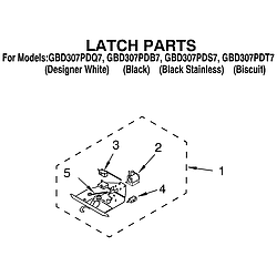 GBD307PDT7 Built-In Electric Oven Latch Parts diagram
