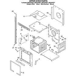 GBD307PDT7 Built-In Electric Oven Upper oven Parts diagram