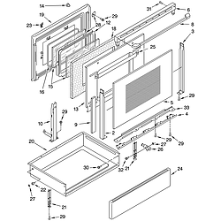 GJP85802 Free Standing - Electric Door and drawer Parts diagram