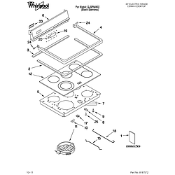 GJSP84902 Free Standing - Electric Cooktop Parts diagram