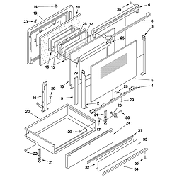 GJSP84902 Free Standing - Electric Door and drawer Parts diagram