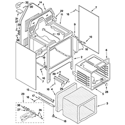 GJSP84902 Free Standing - Electric Oven chassis Parts diagram