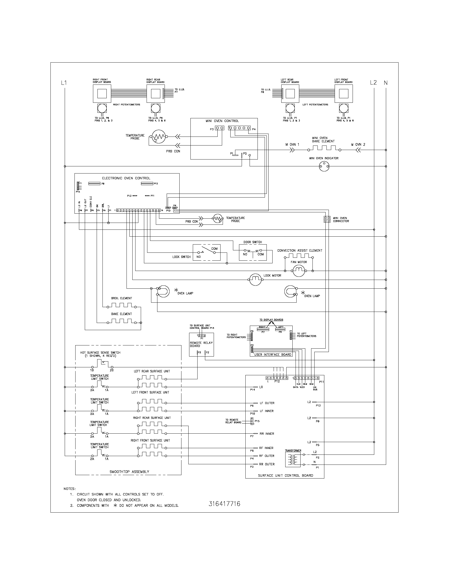 frigidaire glefm397dsb electric range timer stove clocks and rh appliancetimers com Residential Electrical Wiring Diagrams Basic Electrical Wiring Diagrams