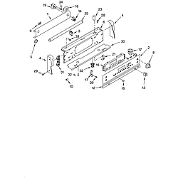 GLP84200 Free Standing Electric Range Control panel Parts diagram