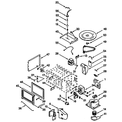 GMC275PDB1 Electric Oven Microwave Combo Cabinet and stirrer Parts diagram