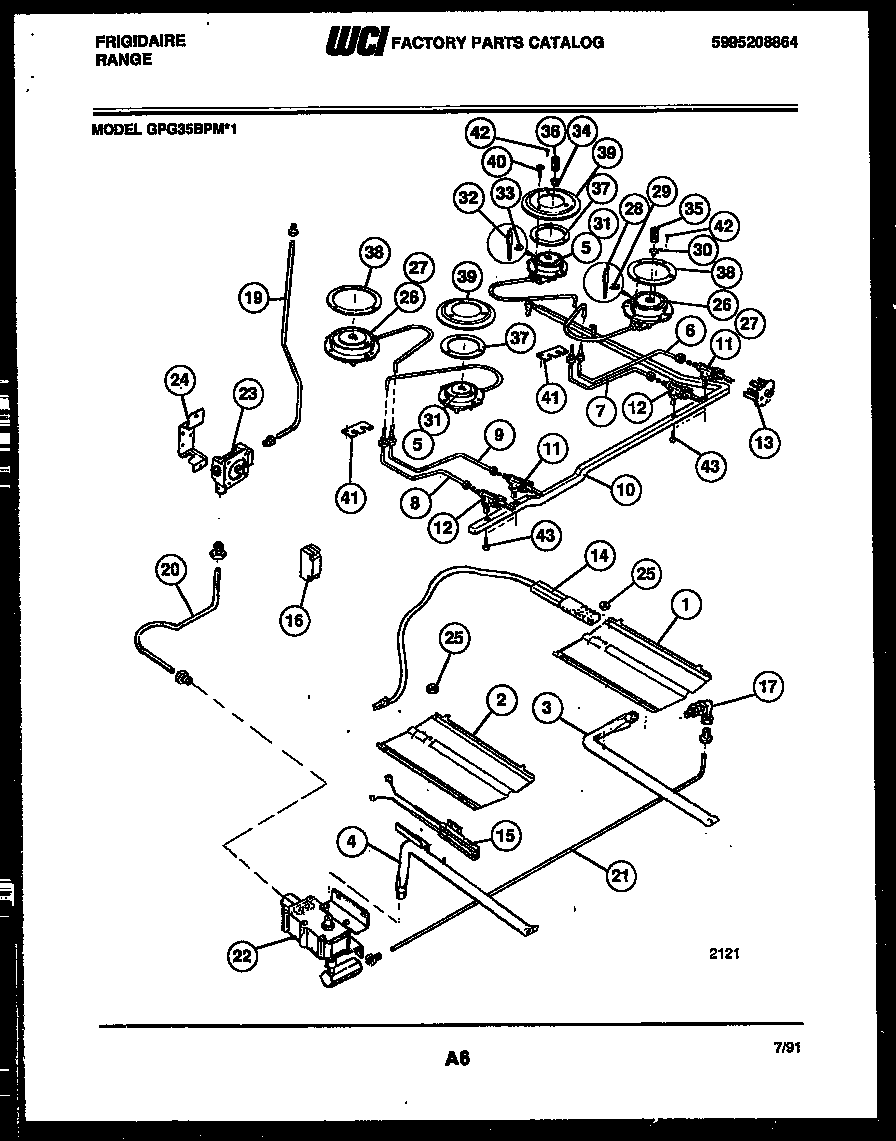 Frigidaire Gpg35bpmx1 Range Gas Timer Stove Clocks And Appliance Top Wiring Harness Burner Manifold Control Parts Diagram